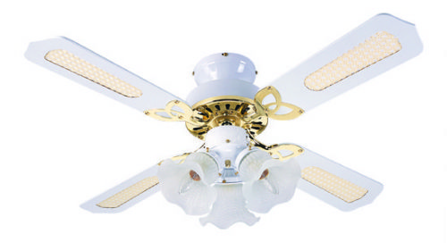 White & Brass Ceiling Fans
